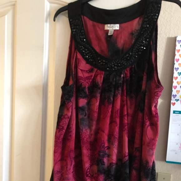 b51c81bf23f Shirt sleeve dressy blouse in plus size 3X